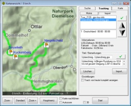 ShowGPS - GPS Tracking GPX-Import